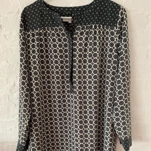 LOFT Patterned Long Sleeve Dress- NWT